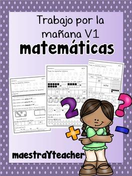 Kinder Math Warm up Spanish/ Practica de Matematicas V1