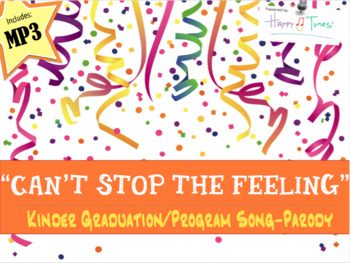 """Kinder Pre-K Graduation Song """"Can't Stop the Feeling"""" Trol"""