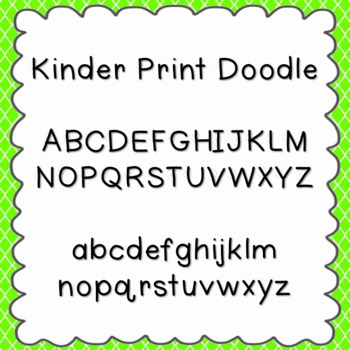 Kinder Print Doodle Font {personal and commercial use; no