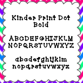 Kinder Print Dot Bold Font {personal and commercial use; n