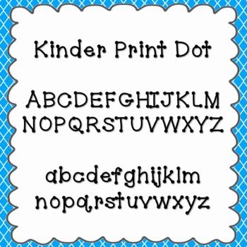 Kinder Print Dot Font {personal and commercial use; no lic