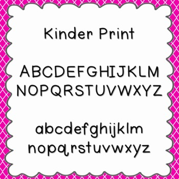 Kinder Print Font {personal and commercial use; no license