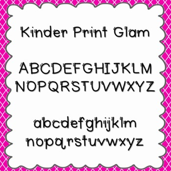 Kinder Print Glam Font {personal and commercial use; no li