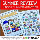 Kindergarten Summer Packet, Summer Review Packet, Kinderga