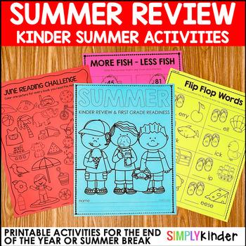 Kindergarten Summer Packet, Summer Review Packet, Kinderga