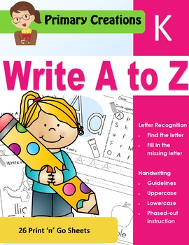 Kinder - Write A to Z