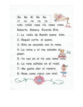 Kinder reading. Letra R