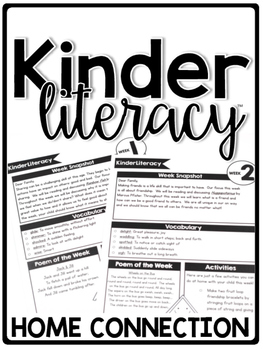 KinderLiteracy Curriculum Home Connection