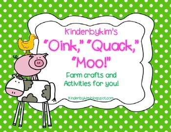 Kinderbykim's Oink! Quack! Moo! Patterns and activities on