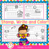 Kinderbykim's Stamp and Write!