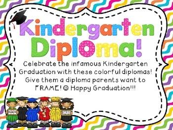 Kindergaretn Diploma **EDITABLE**