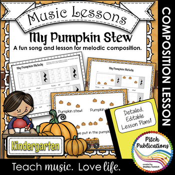 Kindergarten/1st Grade Music Lesson  - Pitch/Melody Compos