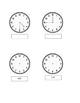 Kindergarten/1st grade telling time center sheet