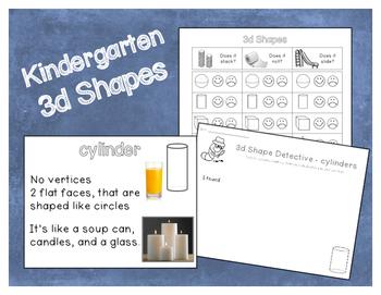 Kindergarten 3d Shapes
