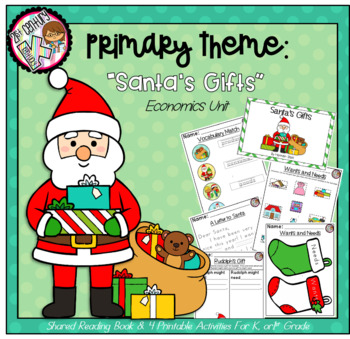 Kindergarten AND First Grade Theme - Santa's Economics