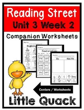 Kindergarten. Little Quack. Unit 3 Week 2 Reading Street