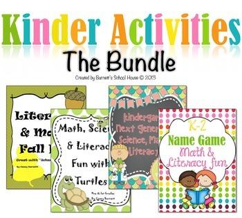 Kindergarten Activities Bundle Science, Math & Literacy Pr