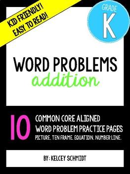 Worksheets Kindergarten Addition Word Problem kindergarten addition word problems by fun with ms schmidt problems