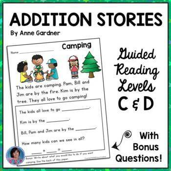 Addition Word Stories ~ No Prep!  (Guided Reading Levels C and D)