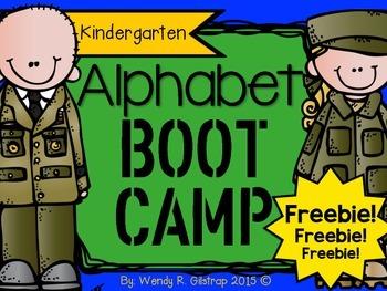 Kindergarten Alphabet Boot Camp Book FREEBIE