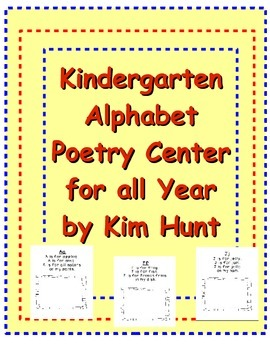 Kindergarten Alphabet Poetry Center/Station for all Year Free