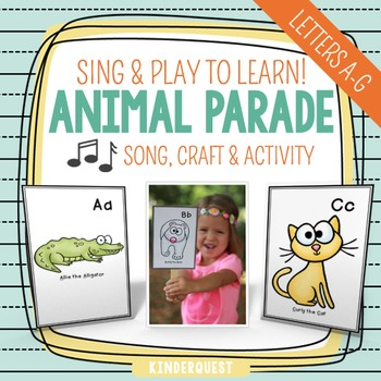 Kindergarten Alphabet Song - Animal Parade A-G