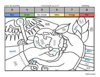 Kindergarten April Coloring Book By Quantity