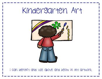 Kindergarten Art Learning Targets Poster Set