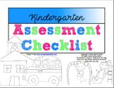 Kindergarten Assessment Checklist