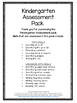 Kindergarten Assessment Pack - Great to use all year!
