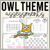 Kindergarten Assessment Pack {Owl Themed}