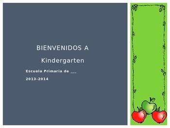 Kindergarten Parent Orientation SPANISH / Presentacion par
