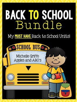 Kindergarten Back to School Bundle