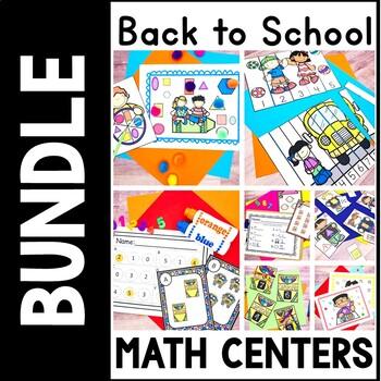 Kindergarten Back to School Math Centers-  Kindergarten Se