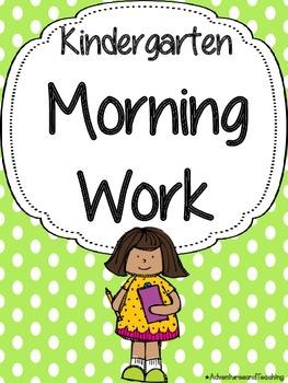 Kindergarten Morning Work Pack