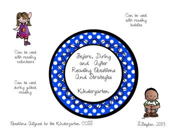 Kindergarten Before, During and After Reading Questioning