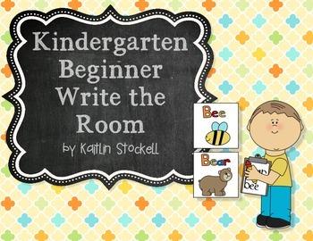 Kindergarten Beginner Write the Room for Literacy Stations!