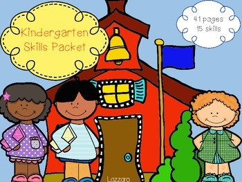 Kindergarten Beginning Skills 41 pgs 15 skills BRAND NEW