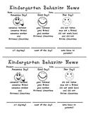 Kindergarten Behavior New (Daily Behavior Rubric)