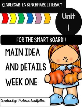 Kindergarten Benchmark Literacy Unit 1, Week 1