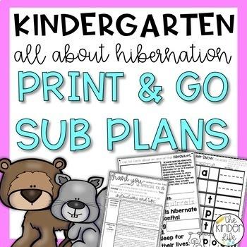 """Kindergarten C.C. Aligned Dec """"Hibernate"""" Print & Go Sub P"""