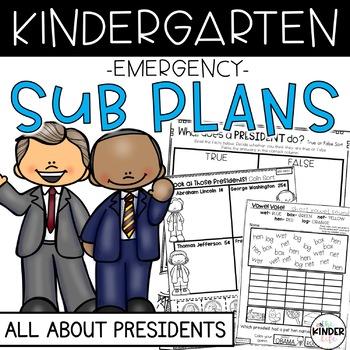 """Kindergarten C.C. Aligned February """"Presidents"""" Print&Go S"""
