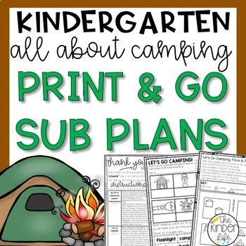 """Kindergarten C.C. Aligned June """"Camping"""" Print & Go Sub Pl"""