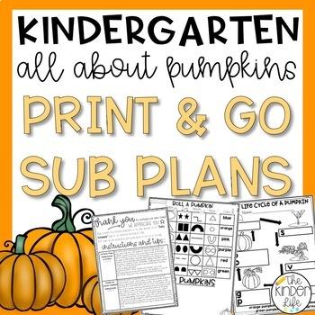 "Kindergarten C.C. Aligned Nov ""Pumpkins"" Print & Go Sub Pl"