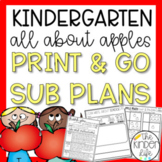 "Kindergarten C.C. Aligned Sept ""Apples"" Print & Go Sub Pla"