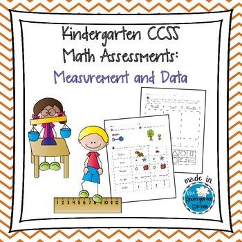 Kindergarten CCSS Math Assessments: Measurement and Data