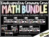Kindergarten CCSS Math Bundle {Printables & Assessments fo