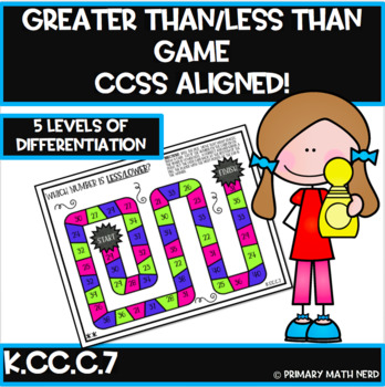Kindergarten CCSS Math Games-Differentiated!! Which number