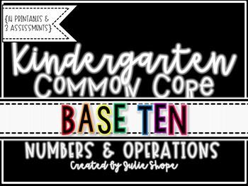 Kindergarten CCSS Numbers & Operations in Base 10 {Printab
