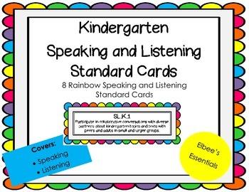 Kindergarten CCSS Rainbow Cards